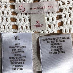 Dress Barn Tops - Cream Crochet Blouse Boho Goddess By DB Dress Barn